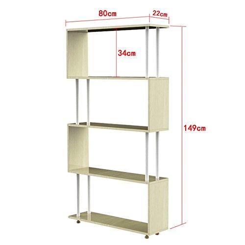 Bücherregal CHUANLAN Modernes Minimalistisches Kleines Hohe Kapazität, die Starken Haushalts-Regal-kreativen Bücherschrank trägt (Größe : White Maple 80*22*149cm) (Offenen Bücherschrank)