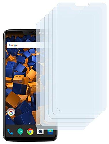 mumbi Schutzfolie kompatibel mit OnePlus 6 Folie klar, Displayschutzfolie (6x)