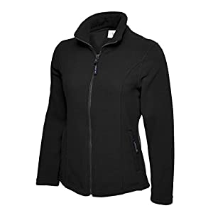 41LPFwrWPcL. SS300  - Ladies Classic Anti Pill Full Zip Warm Fleece Jacket Coat Work Leisure Outdoors [Black][L]