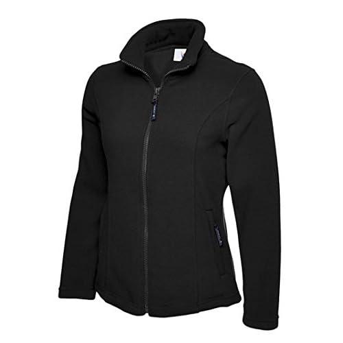41LPFwrWPcL. SS500  - Ladies Classic Anti Pill Full Zip Warm Fleece Jacket Coat Work Leisure Outdoors [Black][2XL]