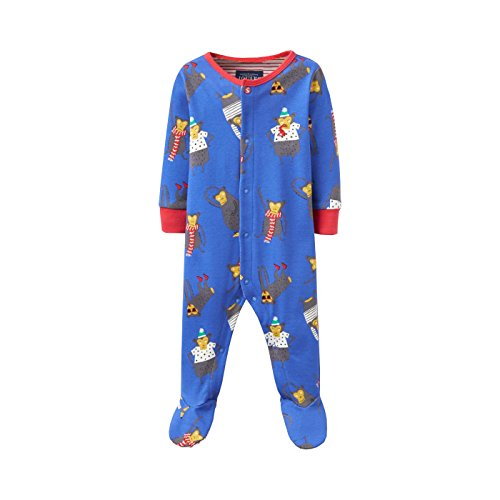 Joules Baby-Printed Grow - Dazzling Blue Monkey - 9-12 months / 80 cms (Print-shirt Tonal)