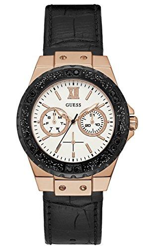 Guess orologio multi-quadrante quarzo donna con cinturino in pelle w0775l9