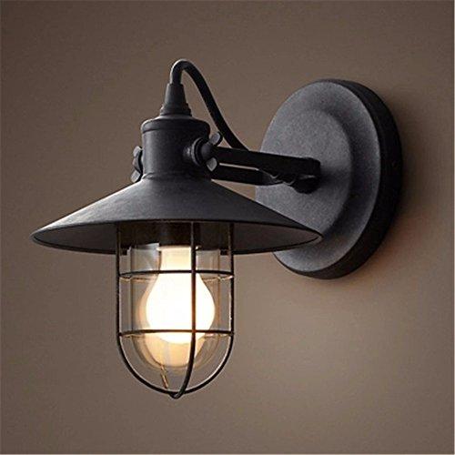 Preisvergleich Produktbild Vintage industrielle Wandleuchte Außenleuchte Nachttischlampe Schlafzimmer Flur Bar Wandleuchte, Durchmesser von 27 * H25