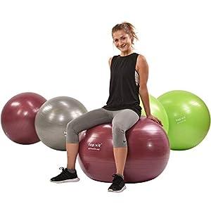 top | vit Gymnastikball Gymnastic.Ball für Fitness- und Sportübungen in 3 Größen 55cm, 65cm und 75cm