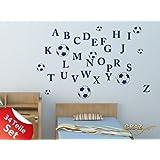 Vinilos decorativos Conjunto de balones niños ABC del alfabeto (57x57cm // 958 baby doll)