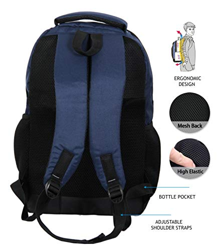 "POLESTAR""Noble Blue 32 Ltrs Casual bagpack/School Bag/Laptop Backpack Image 4"