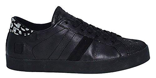 D.A.T.E. Sneaker   Hill Low Nappa - schwarz Schwarz