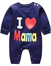 2dcf032f1 Recién Nacido Bebés Chicas Chicos del Verano de Manga Corta de algodón  Mameluco Equipo Infantil de