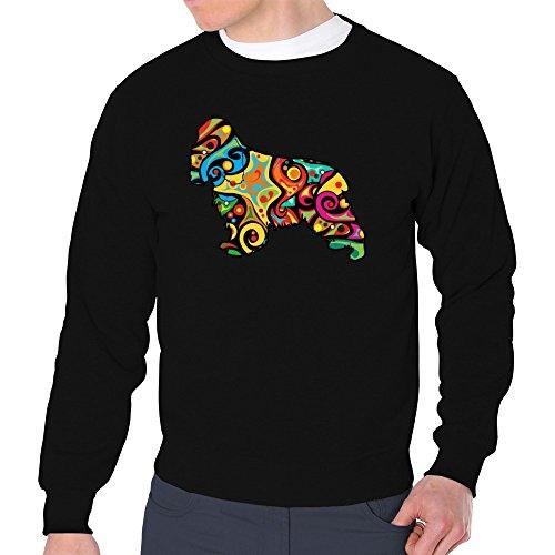 Eddany Psychedelic English Cocker Spaniel Sweatshirt (Baumwolle Spaniel Cocker Sweatshirt)