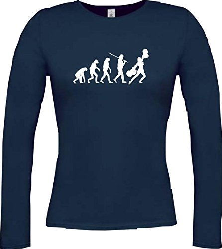 Krokodil Lady Langarmshirt Evolution Cheerleader Cheerleading Kostüm Fun Sport Tanz Farbe blau Größe - Evolution Of Dance Kostüm