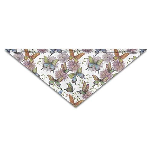 Gorgeous Socks Niedliche Fliegende Schmetterlinge Polyesterfaser 100% Haustier Schals Zubehör einstellbar für alle Größen Hunde Katzen Haustiere