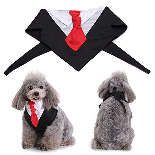 qEbGj70thjT Haustier-Hundewelpen-Hochzeitsfest-Bräutigam-Smoking-Fliegen-Anzugs-Kleidungs-Kleidungs-Kostüm Schwarz (Hunde Bräutigam Kostüm)