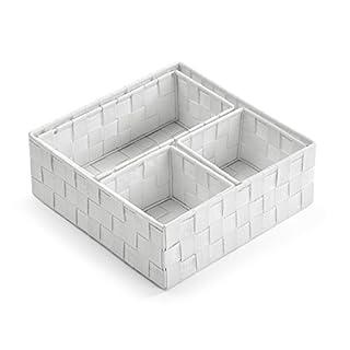 Versa 1948534 Set 4 cestas, Tela, Blanco, 28.00x10.00x28.00 cm (B01J1QFRNI) | Amazon Products