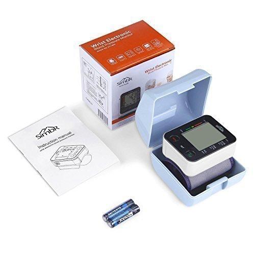SIMBR Misuratore di Pressione da Polso Digitale per Uso Domestico Completamente Automatico e Precisione,Monitor della Pressione Arteriosa con 180 Memorie per 2 Utenti, Portatile,Certifica CE/ROHS/FDA - 7