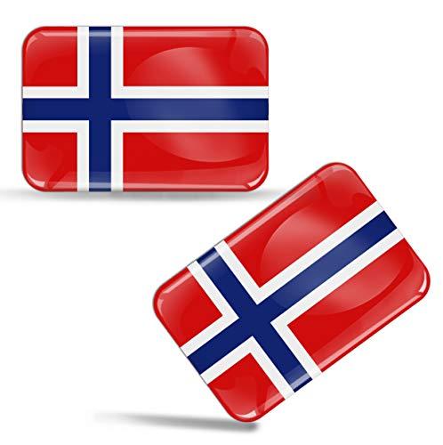 2 x Aufkleber 3D Gel Silikon Stickers Norway Norwegen Flagge Fahne Auto Motorrad Fahrrad Fenster Tür PC Handy Tablet Laptop F 48 Norwegen-pc
