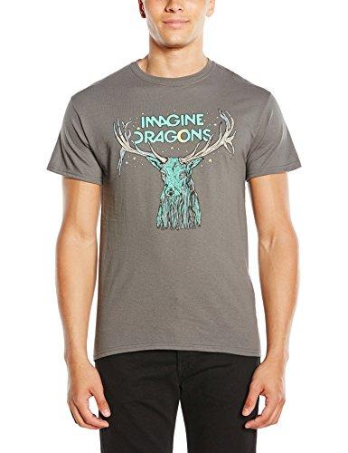 Imagine Dragons - Elk In Stars, T-shirt da uomo, grigio (grey), M
