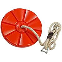 Columpio disco rojo con cuerda y grilletes para tirolina de Gartenpirat ®