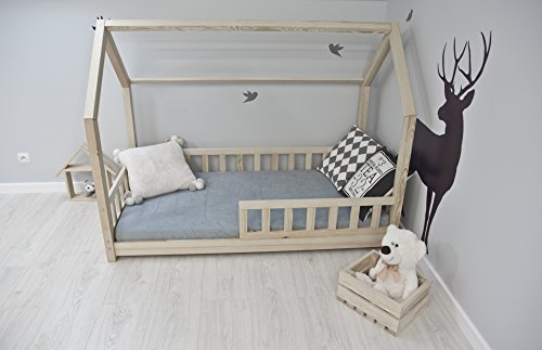 best for kids kinderbett kinderhaus mit rausfallschutz jugendbett natur haus holz bett mit oder. Black Bedroom Furniture Sets. Home Design Ideas