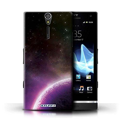 Kobalt® Imprimé Etui / Coque pour Sony Xperia S/LT26i / Planète Verte conception / Série Cosmos Planète Pourpre