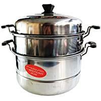 Lucky 3 Tier Stainless Steel Steamer and cooking Pot JL-760