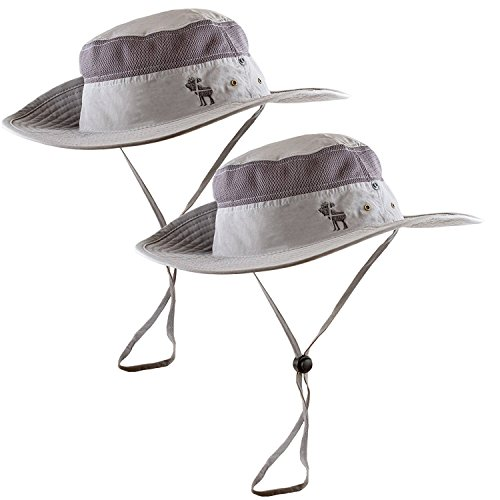 the-friendly-swede-sporty-outdoor-fishing-boonie-hat-with-mesh-panel-and-embroidery-logo-2-pack-grey