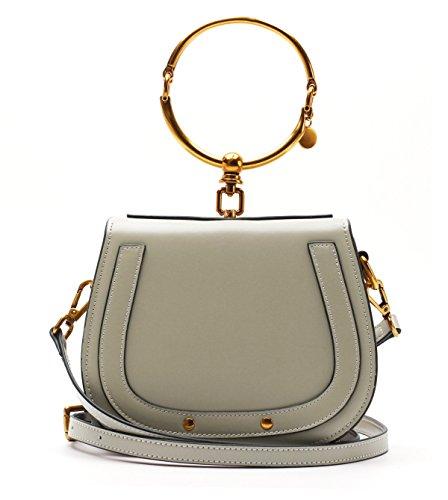 Yy.f Bicyclischen Ring Taschen Handtaschen Sättel Diagonal Schulter Handtaschen Handtaschen Aus Leder Praktisch Interner Mehrfarben- Green