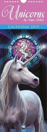 Unicorns by Anne Stokes – Einhörner 2019: Original Flame Tree Publishing-Kalender Slimline [Kalender]