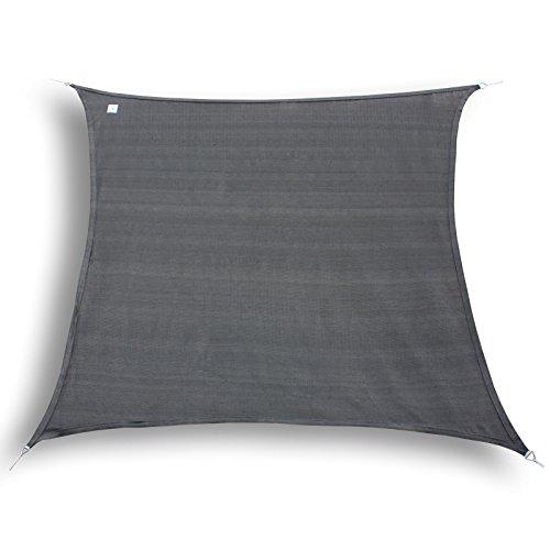 Hanse® Marken Voile d'ombrage Protection Solaire Voile carré Graphite 4,5 x 4,5 m