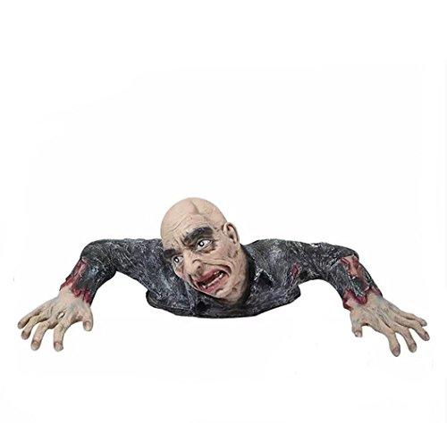 Halloween Creepy Zombies Requisiten Scare Horror Dekoration Environmental Grade Gummi Sicherheitsfarbe Malerei 1: 1 Proportion 60cm Breite