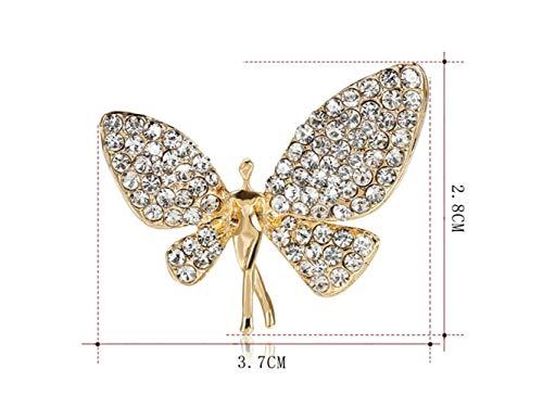 Frauenbrosche Mode Schmetterling Brosche Hochzeit Brautkleid dekorative Corsage Schal Clip für...