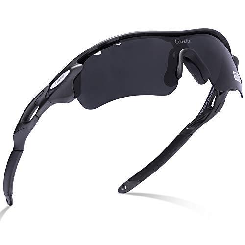 e754c4f010 Carfia Gafas de Sol Deportivas para Hombre y Mujer Gafas de Sol Polarizadas  Protección UV400 con