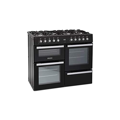 41LPPuZLukL. SS500  - Montpellier MDF100K 100cm Dual Fuel Range Cooker - Black