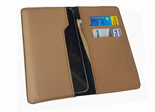 nKarta ™ OD Light Brown Flip Flap Wallet Pouch Mobile Cover Case with Card holder Slots for ZTE Nubia Prague S