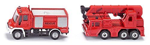 Siku - 1661 - Véhicule Miniature - Modèle À L'Échelle - Set Pompiers - Echelle 1/64 0798525846523