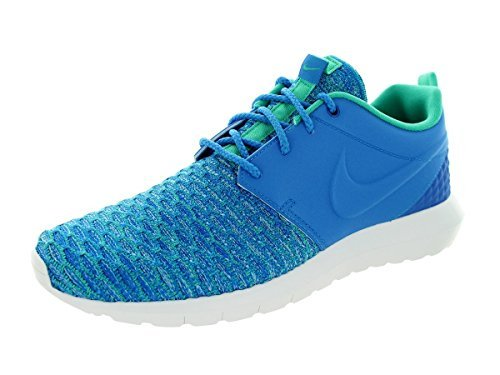 Nike Roshe NM Flyknit Premium Schuhe Herren Sneaker Turnschuhe Blau 746825 400, Size:43