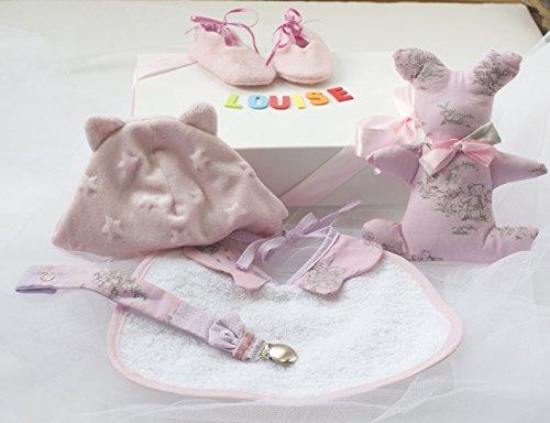 Babybox bébé fille personnalisé unique fait main coffret cadeau naissance cérémonie