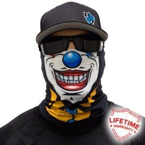 Braga de cuello, multiusos, varios diseños - para protección contra frío, esquí, snowboard, pesca, caza, bicicleta, motocicleta, paintball, Halloween, Twisty face