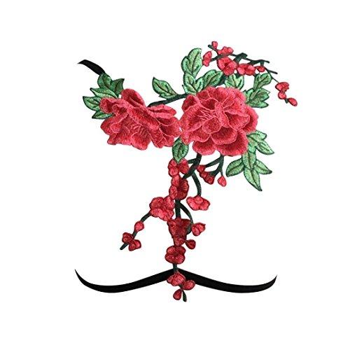 QUINTRA Frauen Sexy Applikationen Blume Hohl Aus Elastischen Käfig Bh Verband Riemchen Schulterfreien Bh Bustierober (XL) (Top Bauern Öse)