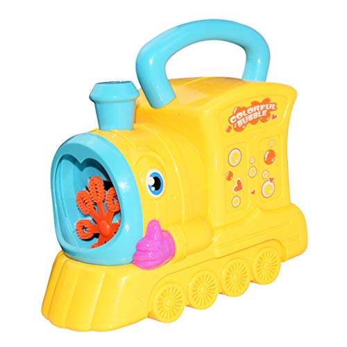 chsene Entwicklung Lernspielzeug Bildung Spielzeug Gute Geschenke,Wasser weht Spielzeug kreative Cartoon Handlokomotive Bubble Machine Outdoor-Kinder ()