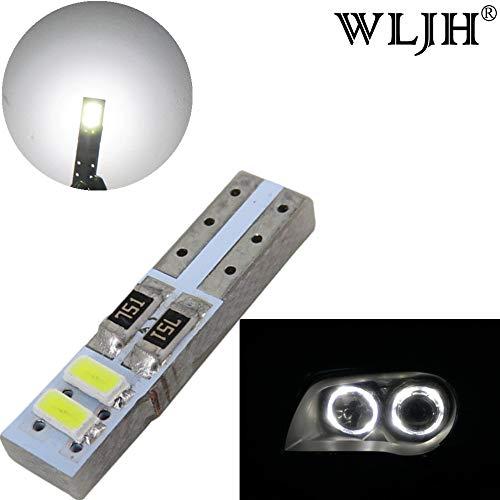 WLJH T5 Ampoule LED Canbus Erreur Gratuit extrêmement Lumineux Vert de Voiture Tableau de Bord Intérieur Carte de dôme Porte côté marqueur lumière de Plaque d'immatriculation, Pcak 10