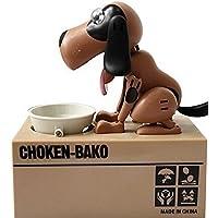Preisvergleich für CITY lustige Hund stiehlt Münze Geld Box Geld Bank Fortune Hunde box Sparschwein - braun schwarz