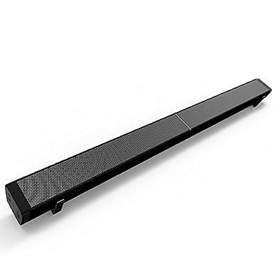 TV Barre de Son Haut-parleur, BODECIN Bluetooth 4,0 Caisson de Basses, Système Audio Stéréo, Montage Mural à Télécommande et Mise à Niveau du Micrologiciel de SouTy