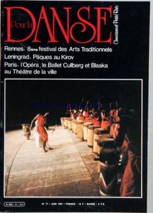 POUR LA DANSE [No 71] du 01/06/1981 - RE...