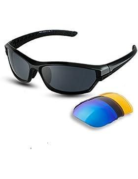 DUCO polarizado deportes mens gafas de sol para esquí de conducción Golf Running ciclismo Tr90 Superlight marco...