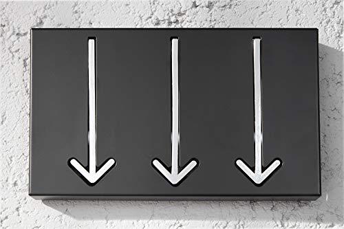 Invicta Interior Appendiabiti Da Parete Di Design Arrow 3 Ganci Nero