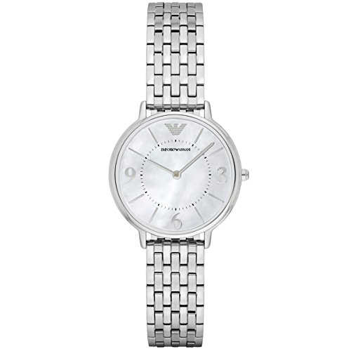 Emporio Armani Women's Watch Analogue Quartz Stainless Steel Silver AR2507