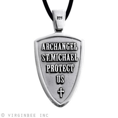 Necklaces stmichael archangel cross shield prayer medal sterling necklaces stmichael archangel cross shield prayer medal sterling silver pendant necklace was listed for r228200 on 19 oct at 0120 by nearandfar in aloadofball Gallery