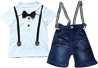 Le SSara Niños bebés 2 pedazos de los niños suave de la camiseta + pantalones Set Trajes Ropa