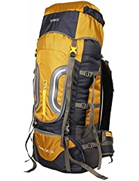 TRAWOC 60L Travel Backpack for Outdoor Sport Camp Hiking Trekking Bag  Camping Rucksack HK005 (Yellow 9ba9188151f1c