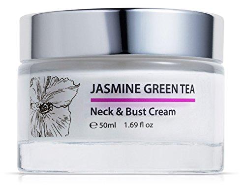 Green Keratin Jasmin Grüner Tee Hals und Dekollete Creme || Mit Bio-Arganöl, 10% Hyaluronsäure, Vitamin C || Anti falten Hals und Brust...